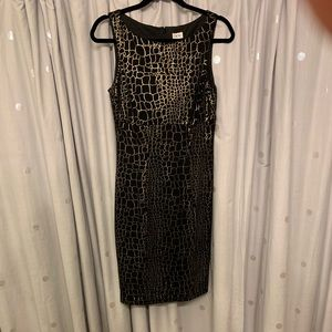 Sleeveless Cache Black and Gold Dress Size 10